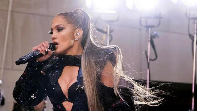 Jennifer Lopez performs on NBC's Today show at Rockefeller Plaza in New York.(Charles Sykes/Invision/AP)