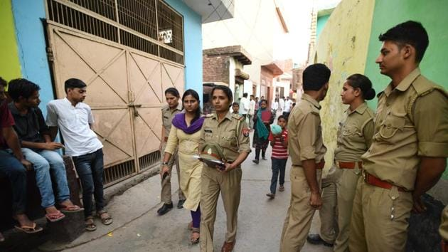 Eight persons were arrested Wednesday for allegedly holding the Jewar gang-rape victims' family hostage and pressuring them to withdraw their complaint.(Virendra Singh Gosain/HT PHOTO)