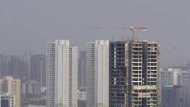 The Noida authority Thursday said it has decided to identify all unsafe illegal buildings across the city and list all developers who are carrying out illegal construction. (Photo by Sunil Ghosh / Hindustan Times)