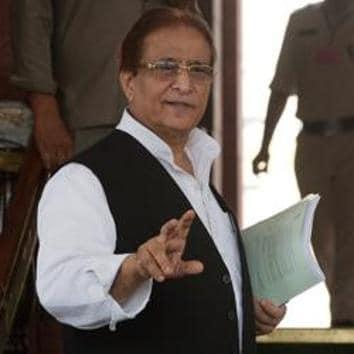 Samajwadi Party MP Azam Khan.(Mohd Zakir/HT PHOTO)