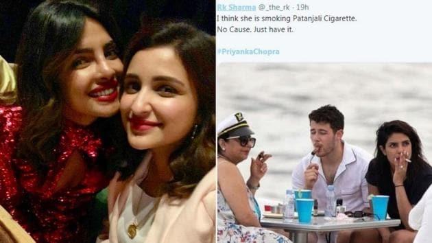 Parineeti Chopra has reacted to cousin Priyanka Chopra's smoking controversy.(Instagram)