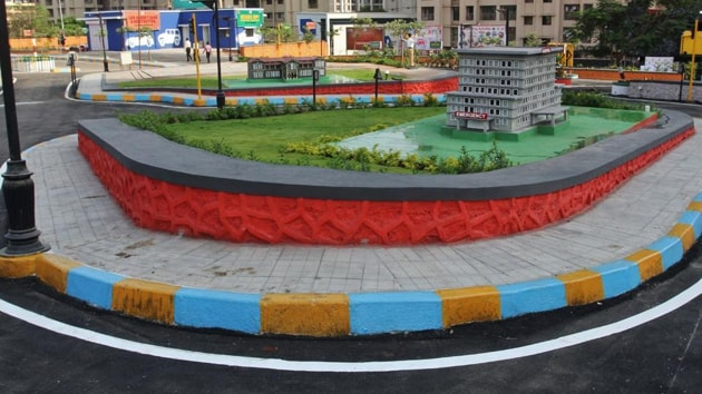 This park is located amid newly built group housing complexes.(HT Photo)
