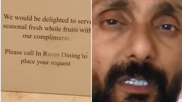 A fine of Rs 25,000 has been imposed on hotel JW Marriott here by the Excise and Taxation Department of the Union Territory for over-charging from actor Rahul Bose for fruits served to him in the hotel.