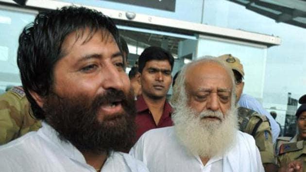 Asaram and his son Narayan Sai (PTI Photo)