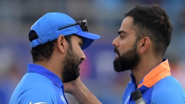 File image of India skipper Virat Kohli and vice-captain Rohit Sharma.(AFP)