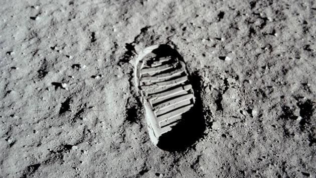 Buzz Aldrin made this footprint on a pristine surface so that he could then photograph it for study by soil mechanics experts.(NASA)