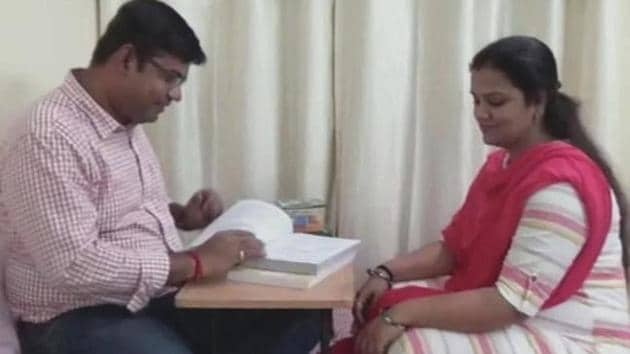 Anubhav Singh and his wife Vibha Singh secured the first and second rank, respectively, in the examination merit list.(ANI)