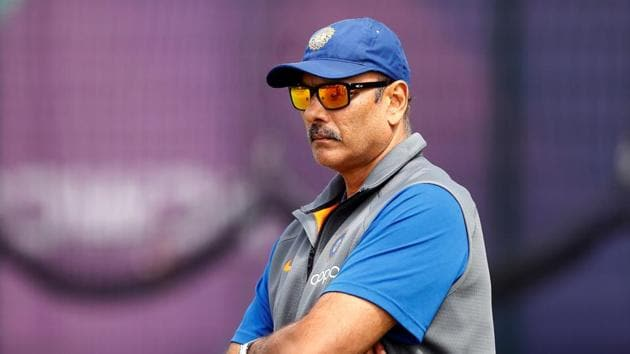 India coach Ravi Shastri during nets at the Cricket World Cup.(Action Images via Reuters)