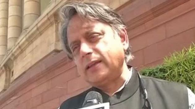 Congress MP Shashi Tharoor had said the 'lack of clarity' over party leadership after Rahul Gandhi's exit was hurting the party.(ANI Twitter)