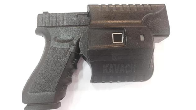 The smart firearms holster can be unlocked only by using its owner's fingerprints.(HT Photo)