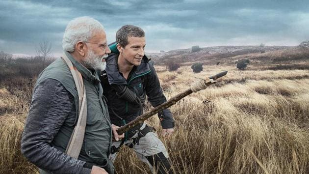 Prime Minister Narendra Modi features on Man vs Wild.(Photo Courtesy: Discovery channel)