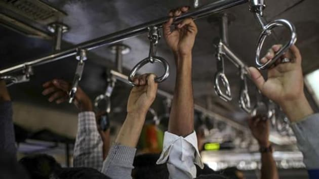 A 25-year-old man was arrested by the Chhatrapati Shivaji Maharaj Terminus (CSMT) government railway police (GRP) on Saturday for impersonating a policeman to avoid being fined for travelling without a ticket.(Bloomberg)