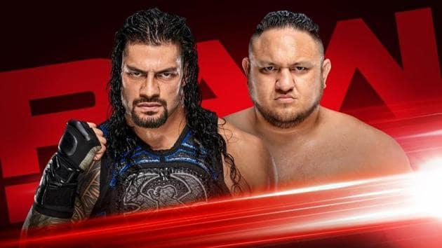 Roman Reigns vs Samoa Joe on this week's WWE Raw.(WWE)