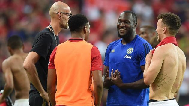Manchester United's Romelu Lukaku.(AFP)