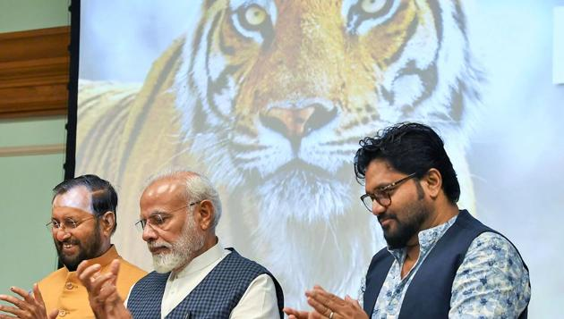 The new numbers have brought cheer to wildlife enthusiasts and conservationists but the Tiger Status Report 2018 has also raised some concerns about the number of tigers in the northeast and in Chhattisgarh.(PTI)