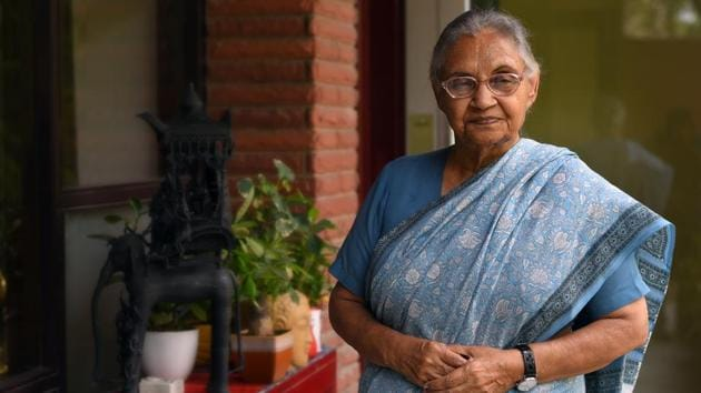 The Delhi Congress Monday wrote to chief minister Arvind Kejriwal, requesting the Aam Aadmi Party (AAP) government to name Signature Bridge after three-time former chief minister Sheila Dikshit, who died this month.(Amal KS/HT PHOTO)