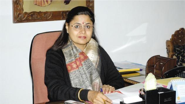 Dr Shakuntla S Jaiman, principal, Colonel Satsangi's Kiran Memorial Public School, Chhattarpur(HT)