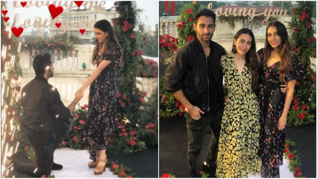 Armaan Jain and Anissa Malhotra's first pics as an engaged couple were shared by Karisma Kapoor.