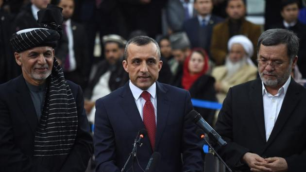 Amrullah Saleh, who survived a terror attack, has a major role in preserving the gains of the last two decades(AFP)