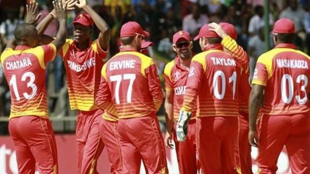 File image of Zimbabwe cricketers.(AP)
