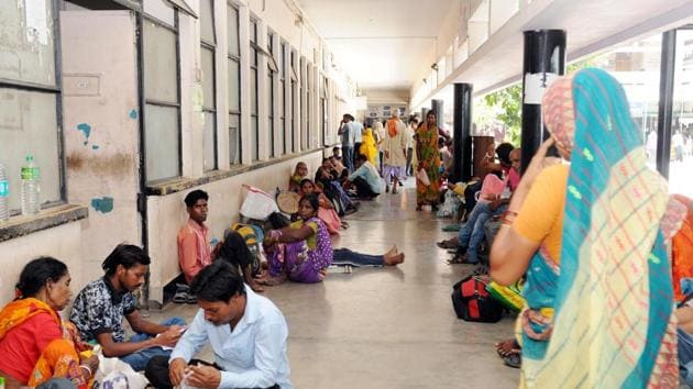 Government-run health facilities in several parts of the country are likely to be disrupted on Wednesday.(Diwakar Prasad/ Hindustan Times)