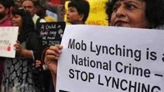 """The mob lynching bill, titled """"The Rajasthan Protection from Lynching Bill, 2019"""", states that offences under it will be tried by a sessions court and be cognizable, non- bailable and non-compoundable.(HTFILE)"""
