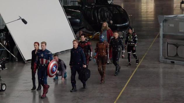The Quantum Realm suits in Avengers: Endgame were entirely CGI.