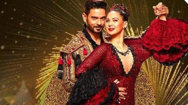 Keith Sequeira and Rochelle Rao in a shot from Nach Baliye 9.