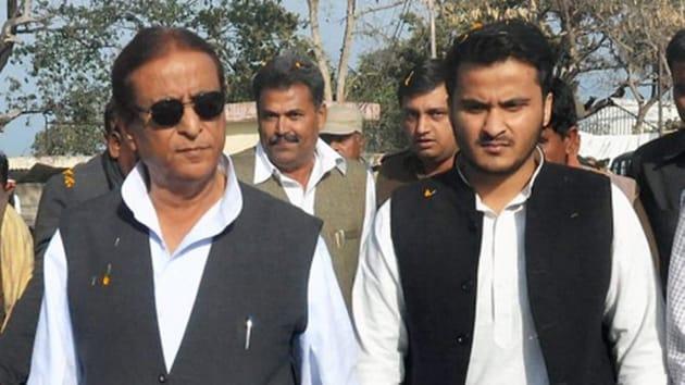 MP Azam Khan and his son Abdullah Azam Khan.(PTI Photo)