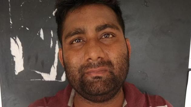 The suspect, Shailesh Kumar Sharma, is from Bulandshahr. He lives in a rented accommodation in Bhangel, Noida.(Photo: Sourced)