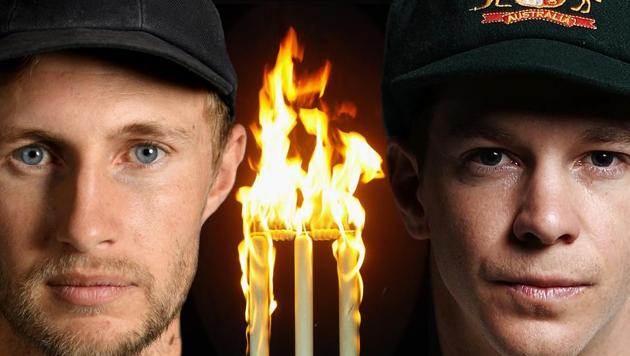 In this composite image a comparison has been made between Joe Root, captain of England (L) and Tim Paine, captain of Australia.(Getty Images)