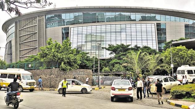 EON IT Park in Kharadi is at the heart of the issue over ready reckoner rates charged.(Shankar Narayan/HT PHOTO)