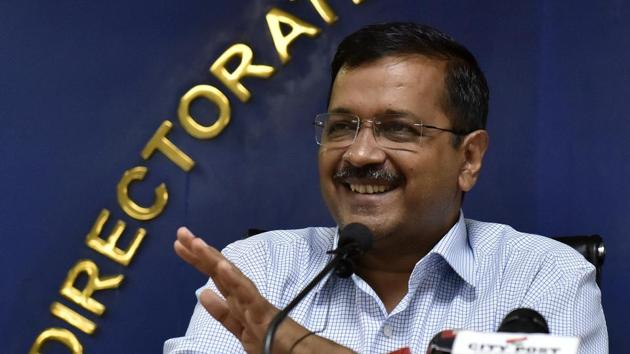 Aam Aadmi Party boss and chief minister Arvind Kejriwal tweeted soon after the regulator announced the power tariff changes.(Mohd Zakir/HT PHOTO)