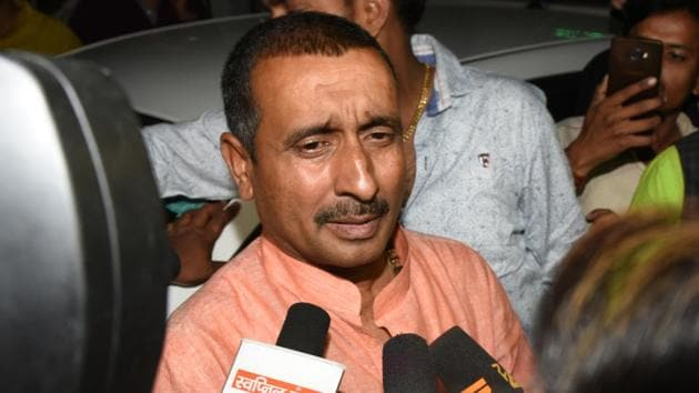 The CBI has booked BJP legislator Kuldeep Singh Sengar and at least 30 of his aides for allegedly conspiring to murder and attempt to murder the woman who accused the politician of raping her.(Subhankar Chakraborty/HT PHOTO)
