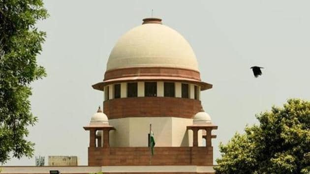 The Supreme Court is hearing petitions challenging a 2010 Allahabad High Court order that trifurcated the 2.77-acre-site between the Nirmohi Akhara, the Sunni Central Waqf Board, and Ram Lalla [the child deity].(Amal KS/HT FILE PHOTO)