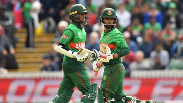 Bangladesh's Tamim Iqbal (R) and Bangladesh's Shakib Al Hasan (L)(AFP)