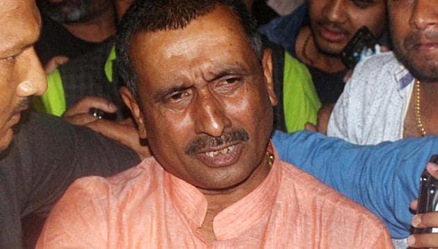 MLA Kuldeep Singh Sengar who is accused of the Unnao rape case.(ANI file photo)