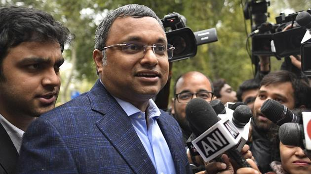 The ED directed former Union minister P Chidambaram's son Karti to vacate his Jor Bagh house , which was earlier attached by the agency in the INX Media corruption case in which they are accused.(Sanchit Khanna/HT PHOTO)