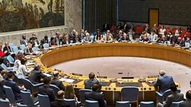 Members of the United Nations Security Council at the UN headquarters. (Reuters File Photo)