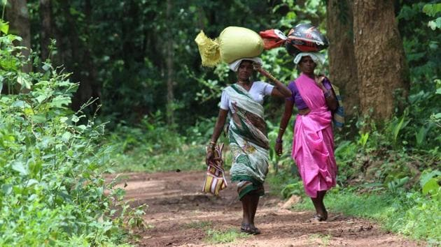 Tribals belonging to the Gond group in Chhattisgarh will now be able to listen to the news in their local language with the help of a new mobile application.(Ritesh Mishra/HT File Photo)