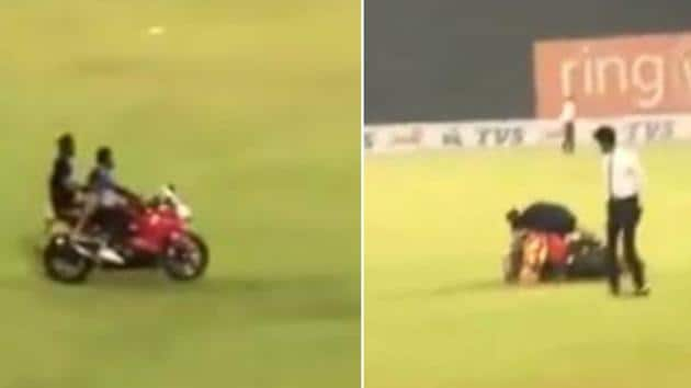 Kusal Mendis suffered a bike accident during the victory celebration(Screen grab)