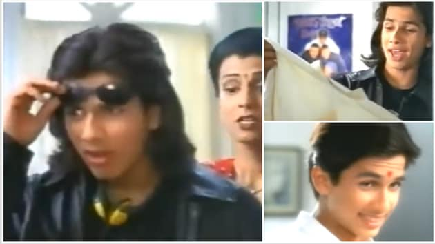 Shahid Kapoor in an ad for a detergent in 1999.