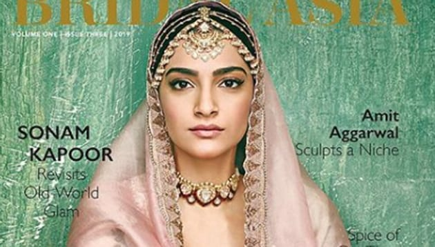 Sonam Kapoor dresses up as a bride on a new mag cover.