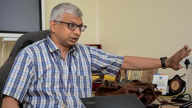 Abhay Jere, chief innovation officer (CIO) of innovation cell(Milind Saurkar/HT Photo)
