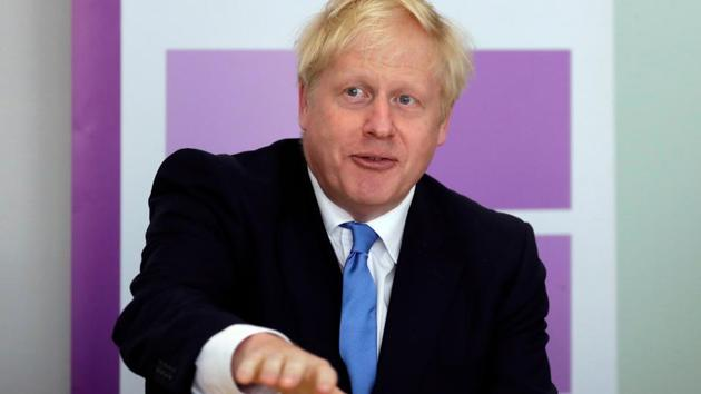 Boris Johnson suffered a setback in his first test as prime minister after the Conservative party on Friday lost a by-election in Wales that reduced its majority in the House of Commons to one(AFP Photo)