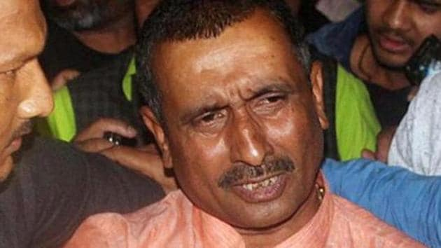 FILE Photo of MLA Kuldeep Singh Sengar who is accused of the Unnao rape case. He was suspended by BJP earlier and no change in the status has been recorded since then. (ANI Photo)