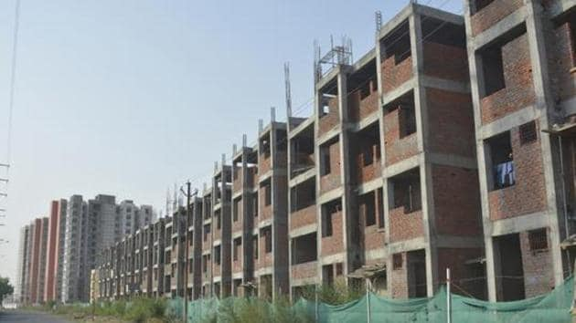 The officials of the Ghaziabad Development Authority (GDA) have decided to lower the price of unsold as well as new flats in their housing schemes with retrospective effect. (Photo by Sakib Ali / Hindustan Times)
