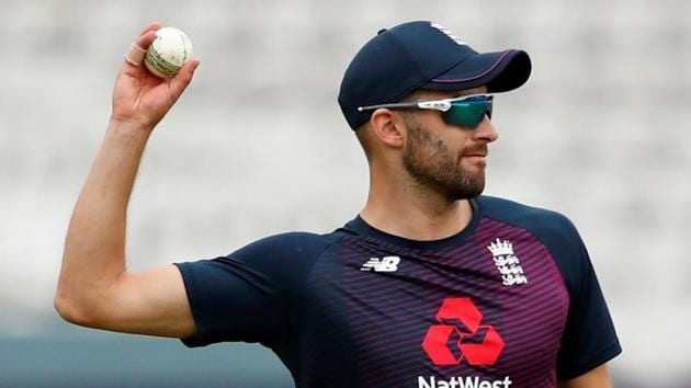 England's Mark Wood during nets.(Reuters)