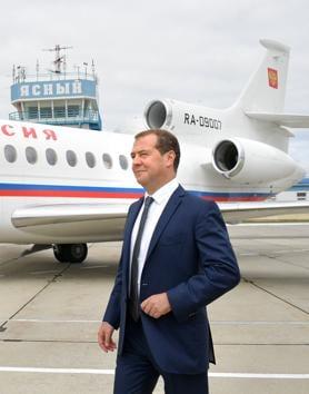 Russian Prime Minister Dmitry Medvedev visited Japan.(AFP photo)