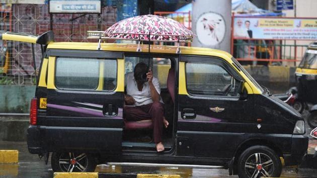 Heavy rains in Mumbai suburbs at Borivali in Mumbai on Friday, August 2, 2019.(Photo: Pramod Thakur/ Hindustan Times)